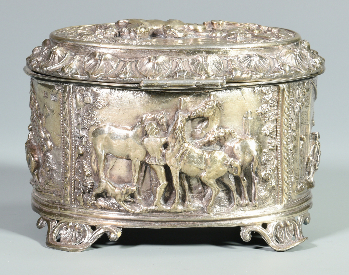 Lot 461 5 Sterling Horse Related Items Inc Jewel Box