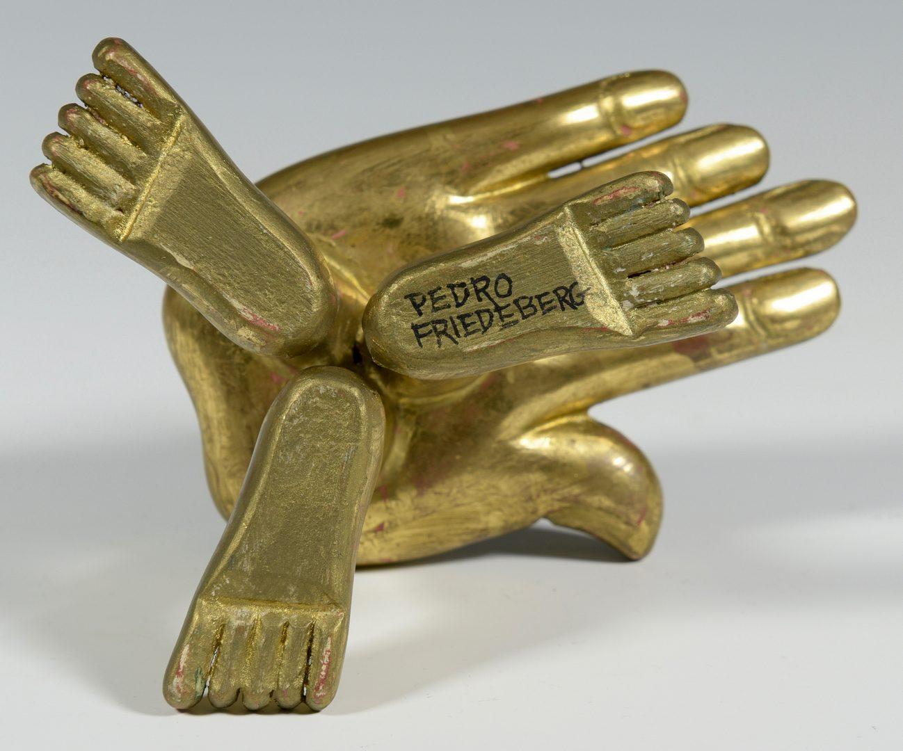 Lot 463: Friedeberg Hand Chair, Chagall Litho, Raiken Sculpture