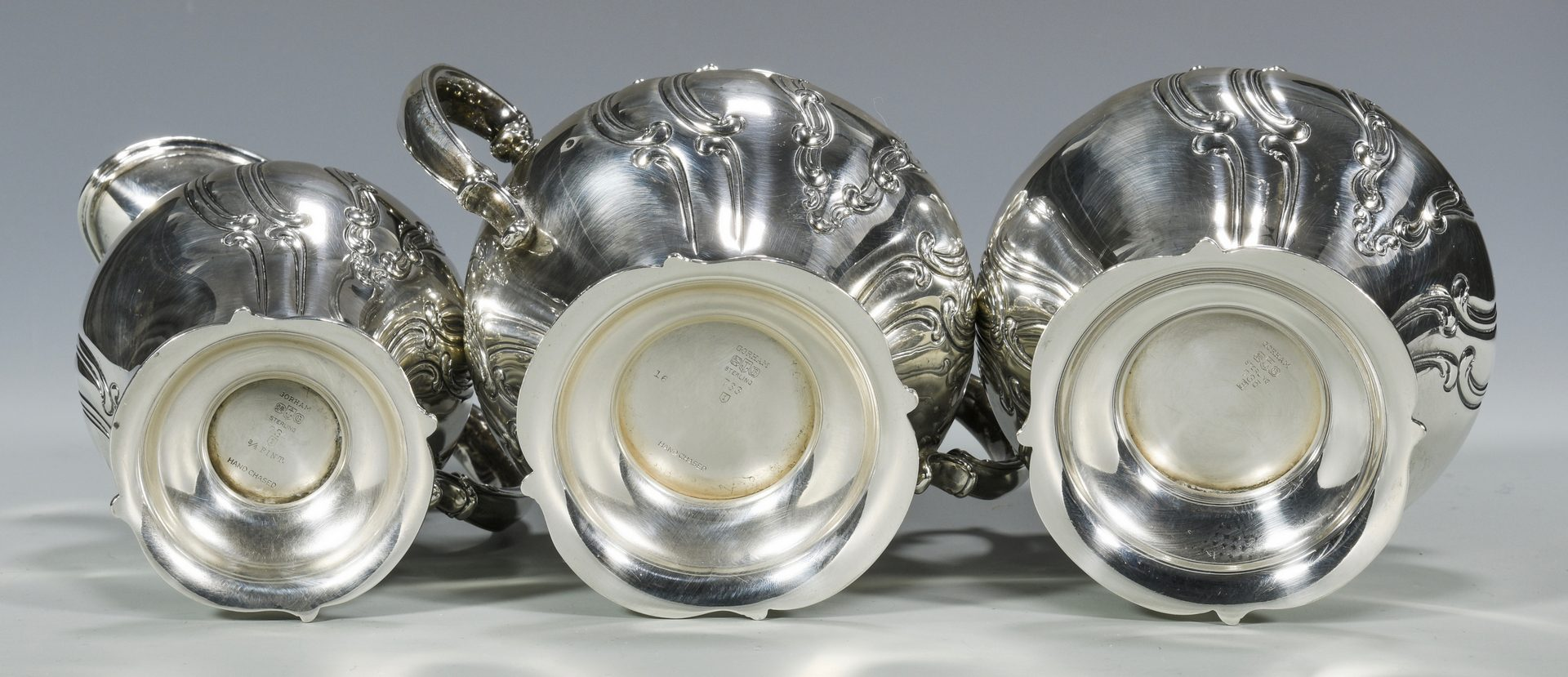 Lot 46: Gorham Chantilly Sterling Tray & Tea Set