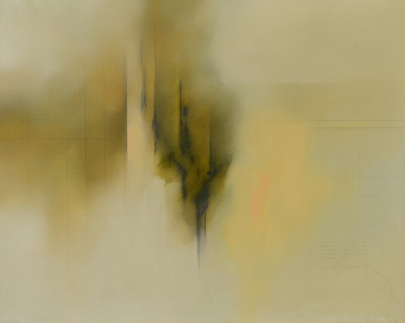Lot 471: Fernando Zobel Abstract Oil on Canvas