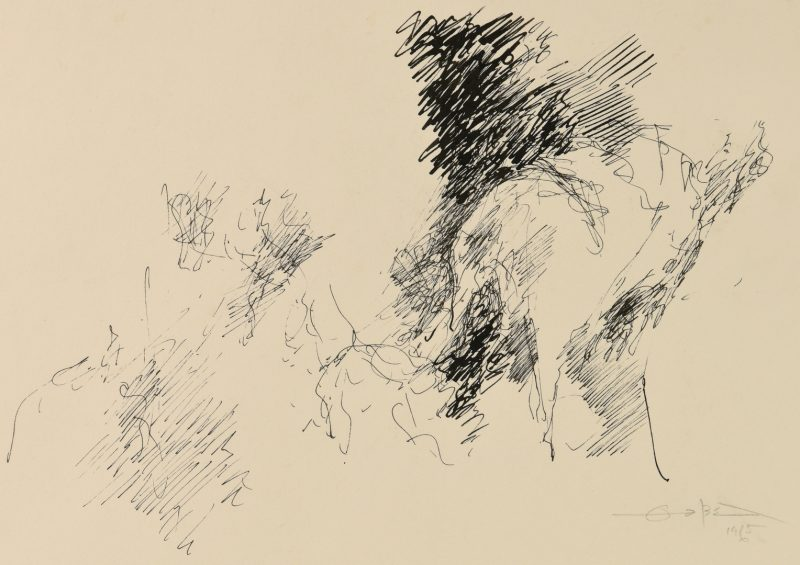 Lot 472: Fernando Zobel Ink Drawing