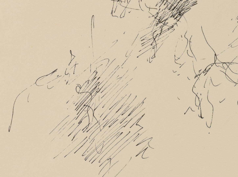 Lot 472: Fernando Zobel Ink Drawing