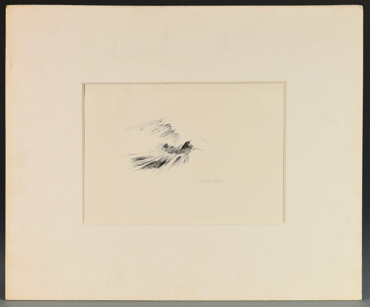 Lot 473: Fernando Zobel Ink Drawing