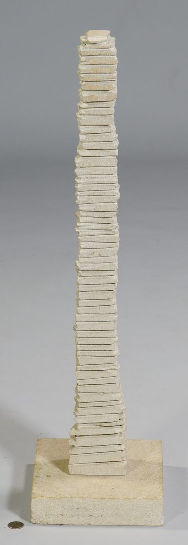 Lot 476: Frank McGuire, Stone Totem Sculpture