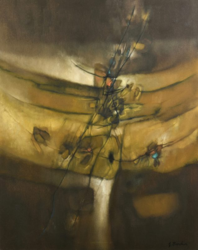 Lot 481: Jesse Bardin o/c, Flight Into Autumn