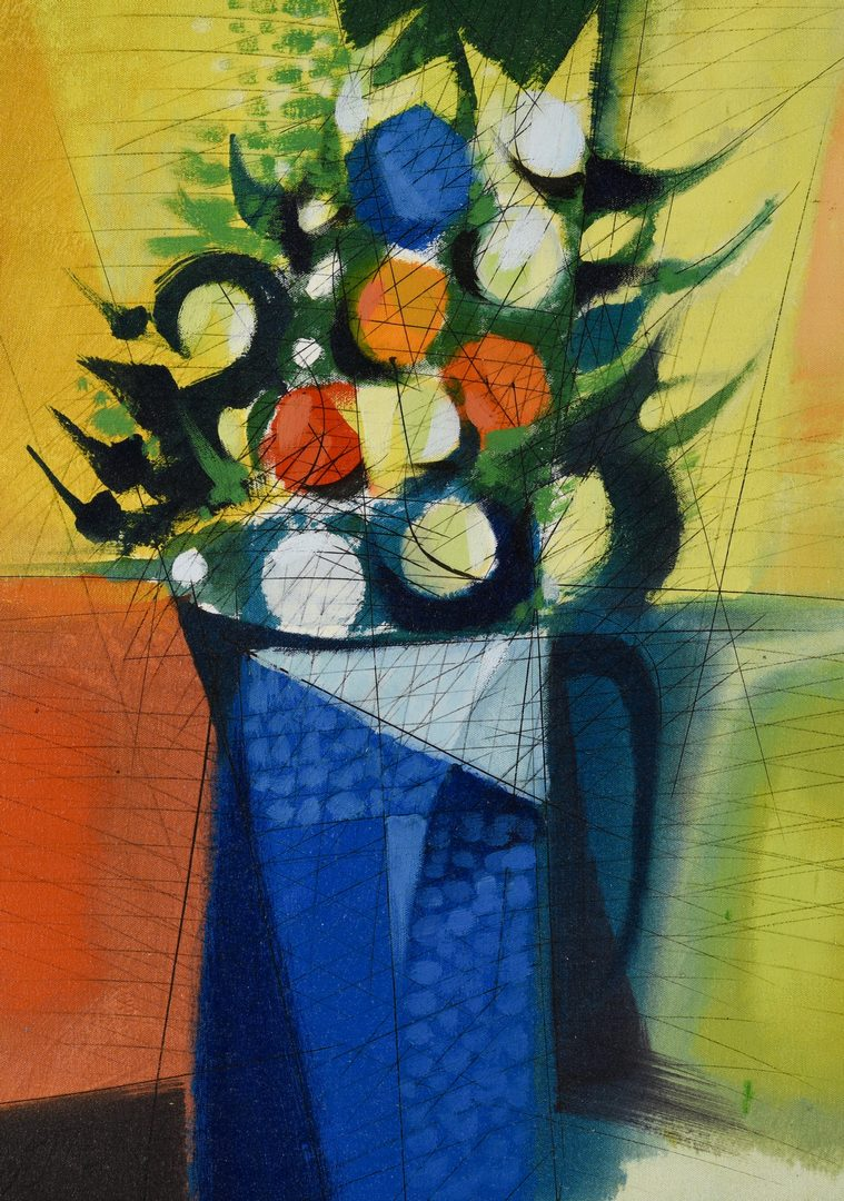 Lot 484: Oil on Canvas Floral Still Life, Paul Maxwell