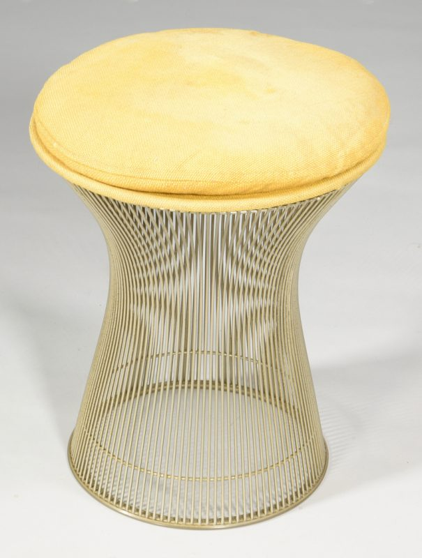 Lot 488: Warren Platner Knoll Stool, labeled