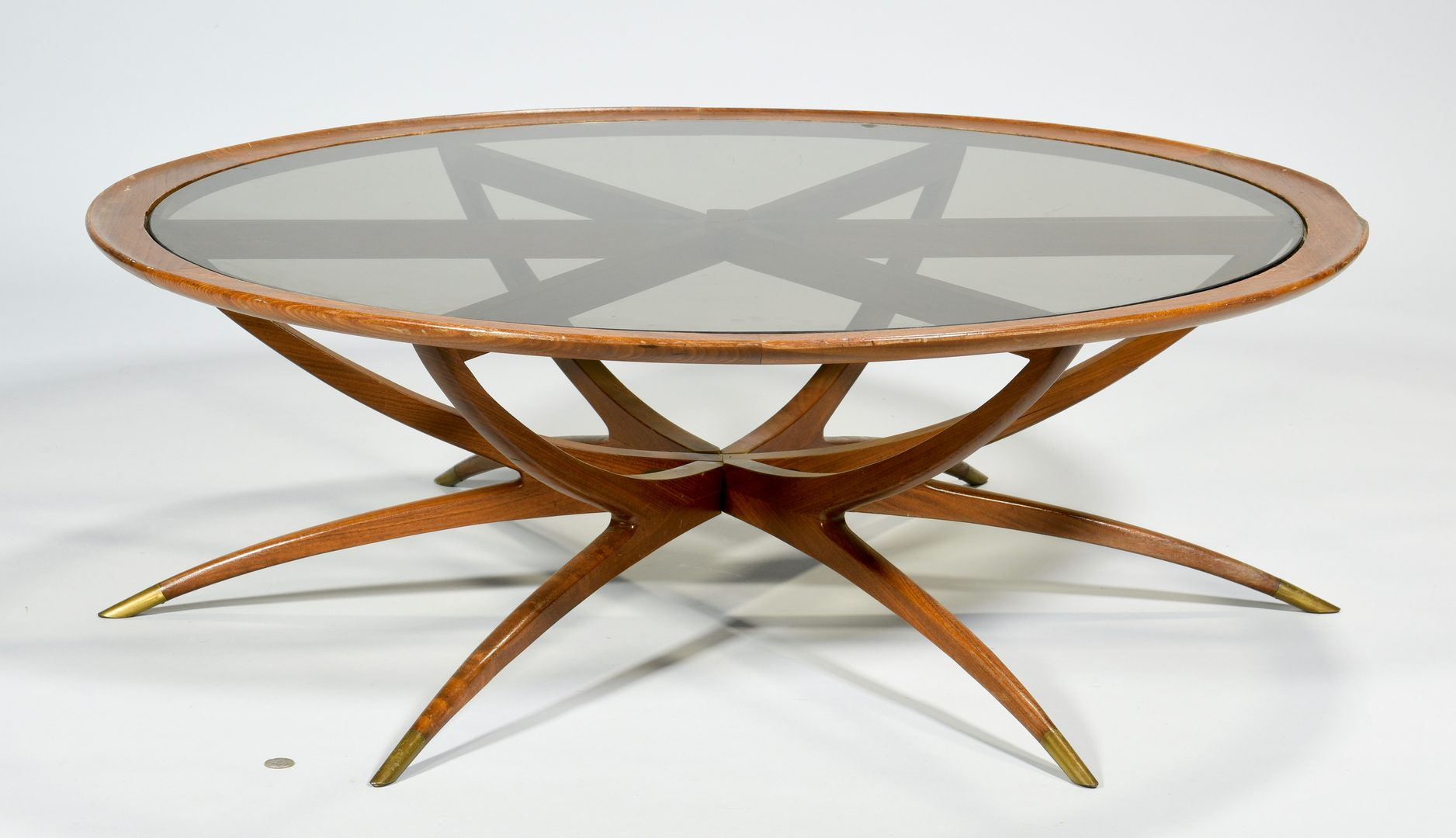 "Lot 490: Danish Modern ""Spider"" Coffee Table"