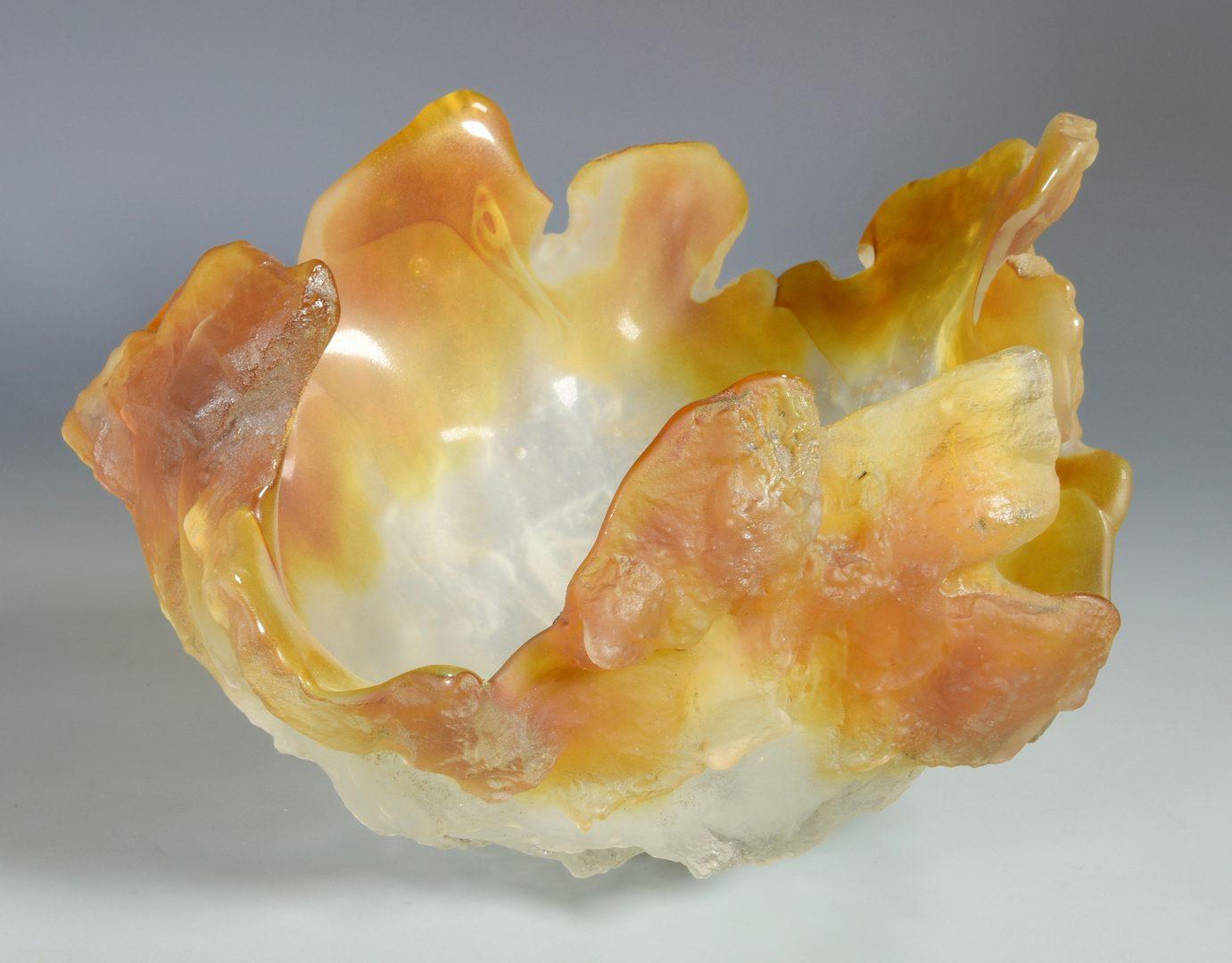 Lot 494: Amanda Brisbane Art Glass Sculptural Bowl