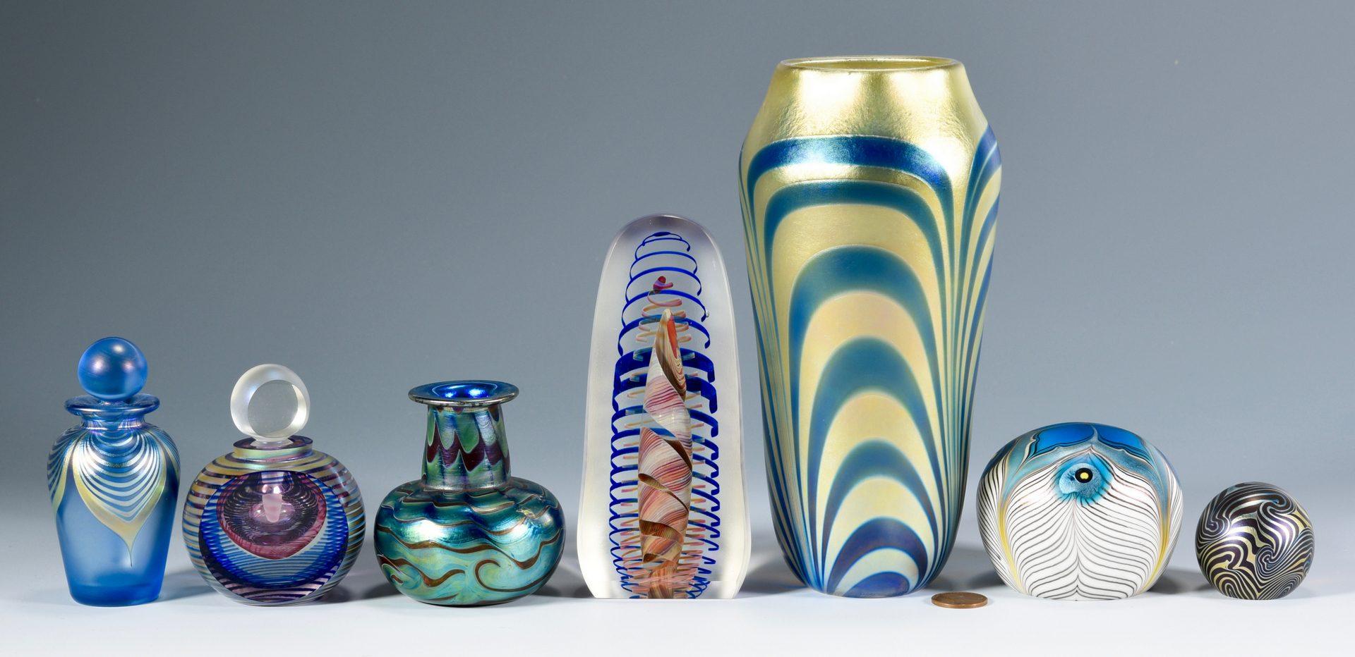 Lot 496: 7 pcs. Contemporary Art Glass, Incl. Lotton &  Lundberg