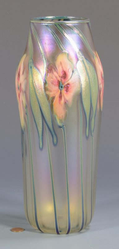 Lot 497: Charles Lotton Art Glass Vase