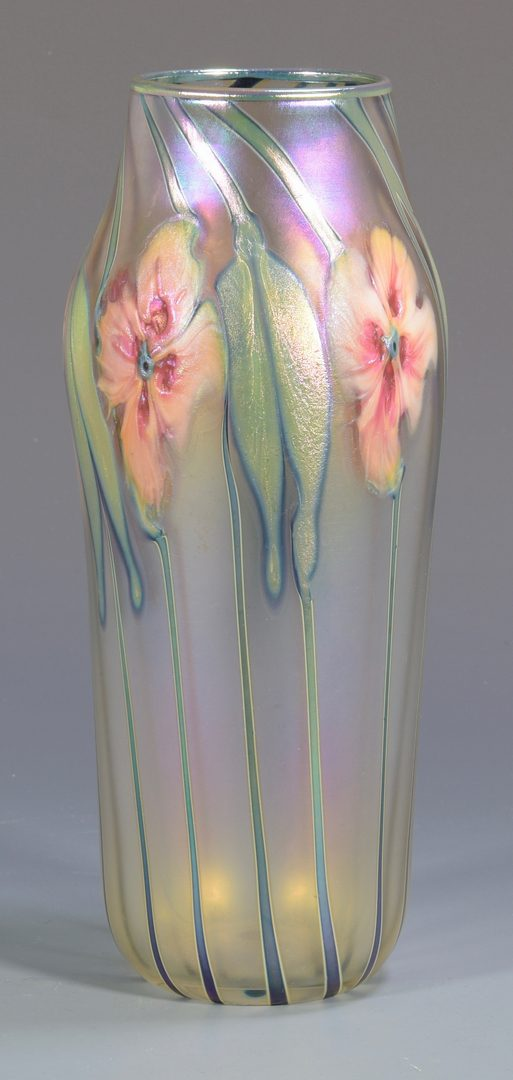 Lot 497: Charles Lotton Art Glass Vase