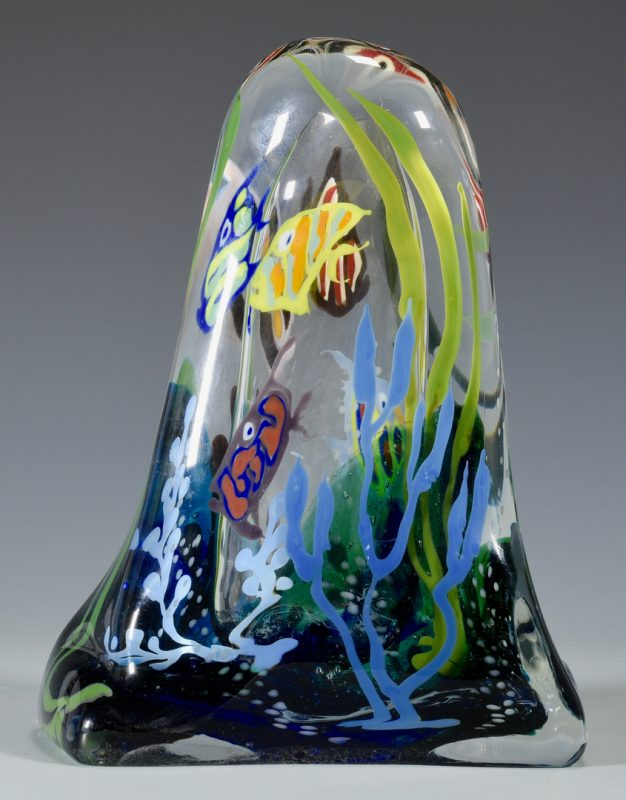 Lot 498: Richard Jolley Glass Fish Sculpture