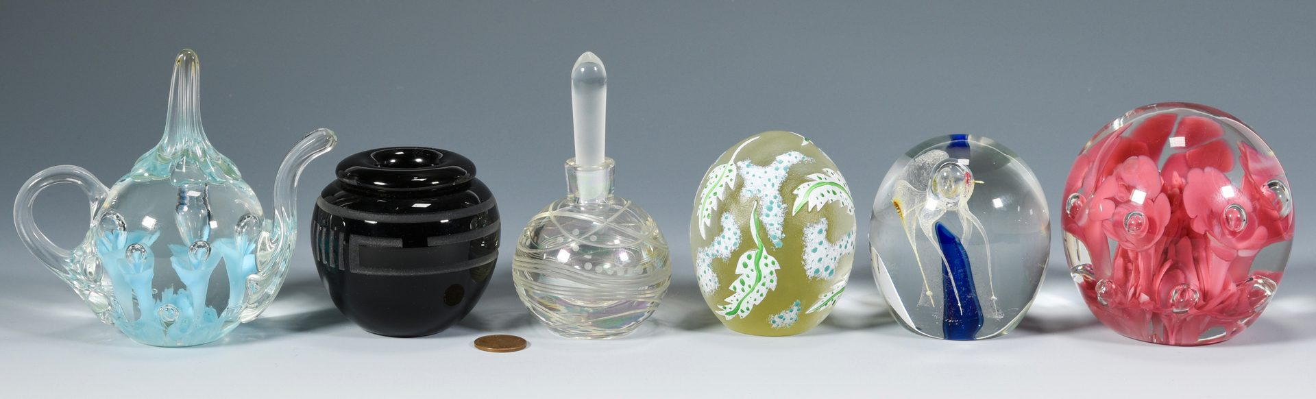 Lot 499: Group of Contemporary Art Glass, incl. St. Clair & Jolley