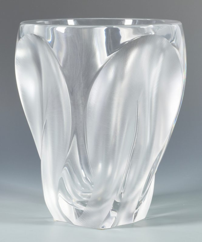 Lot 501: Large Lalique Ingrid Glass Vase