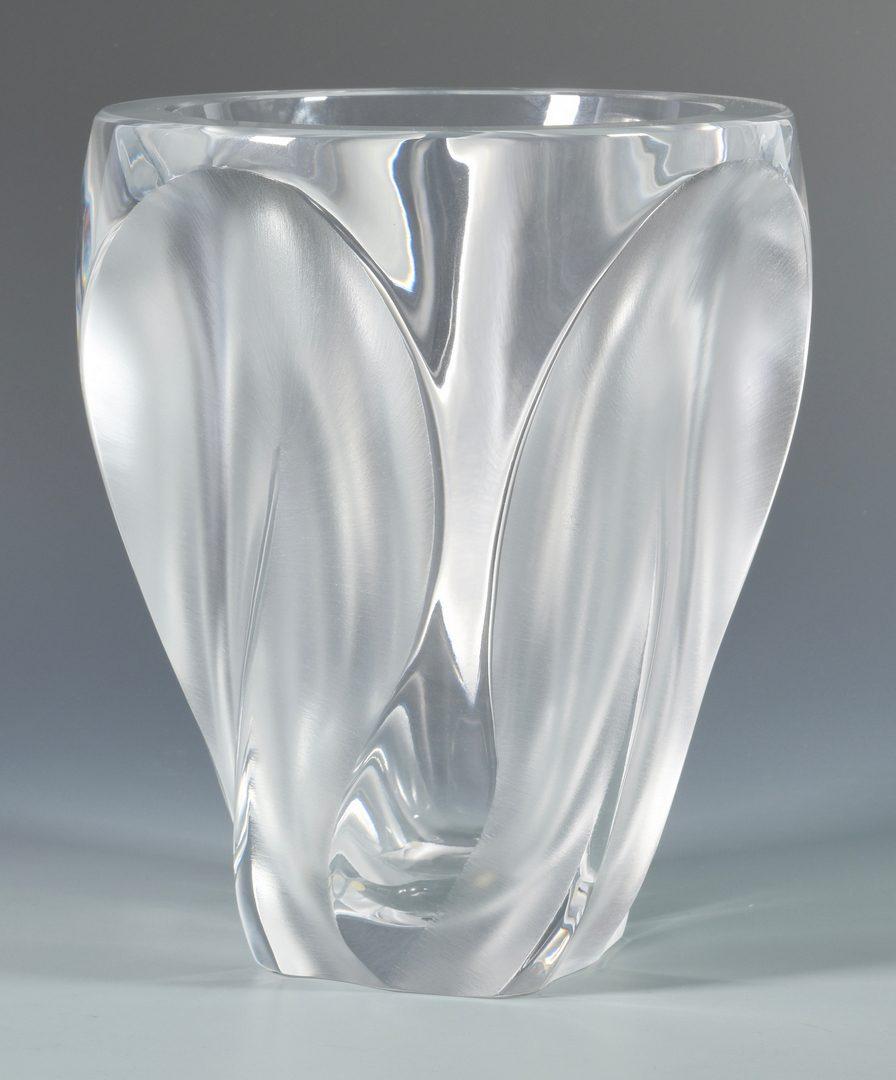 Lot 501: Large Lalique Ingrid Glass Vase