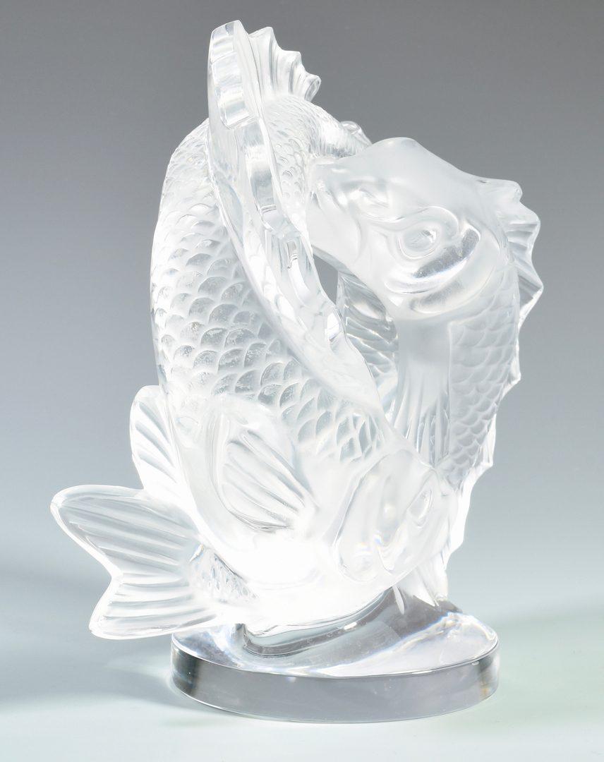 Lot 502: Lalique Pisces Sculpture, Deux Poissons