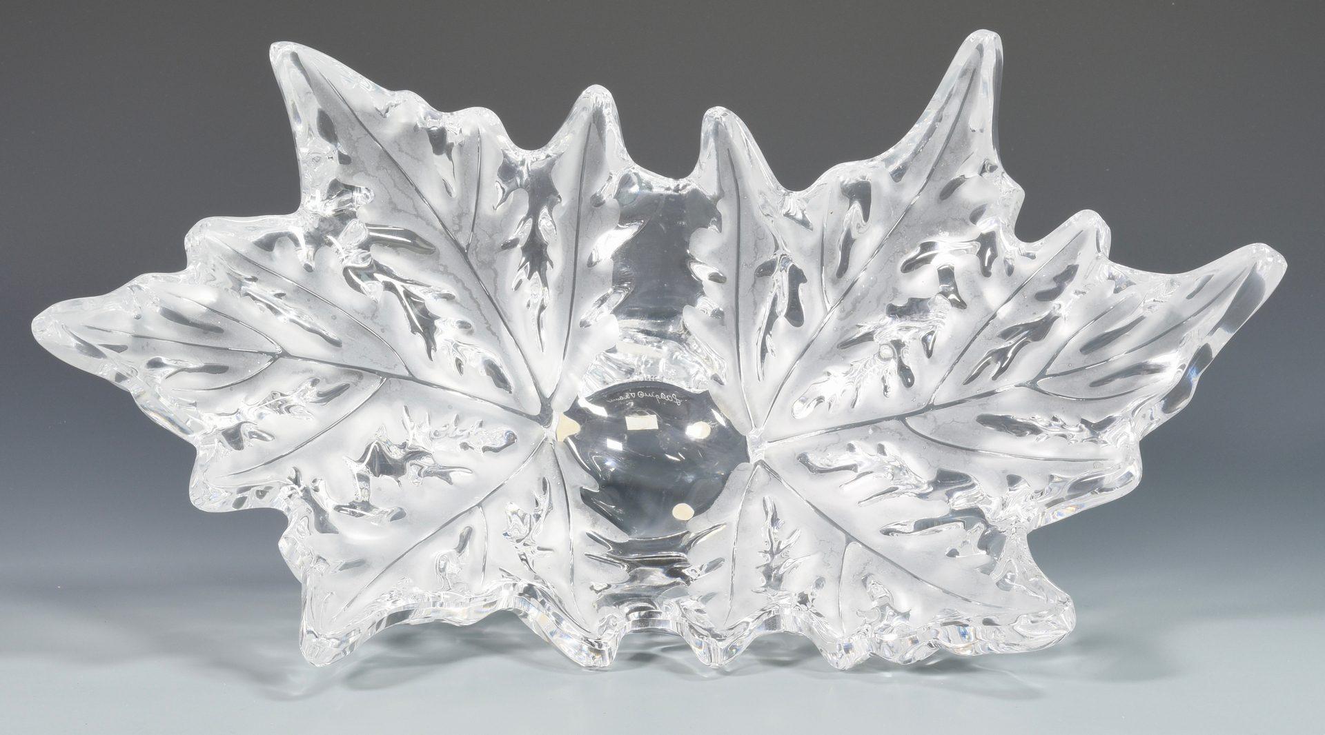 Lot 503: Large Lalique Glass Fern Center Bowl