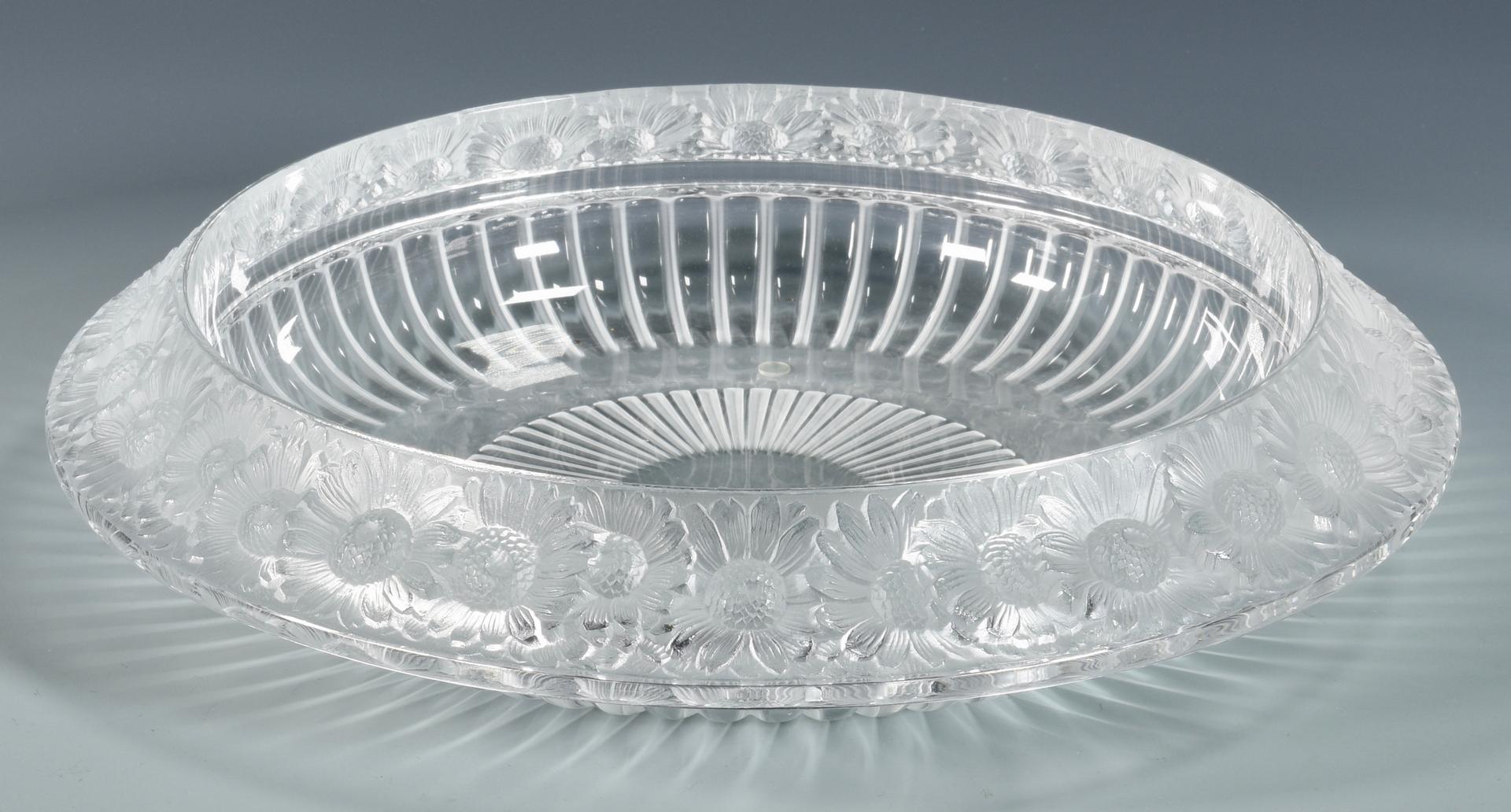 Lot 506 Lalique Vase Amp Marguerite Bowl