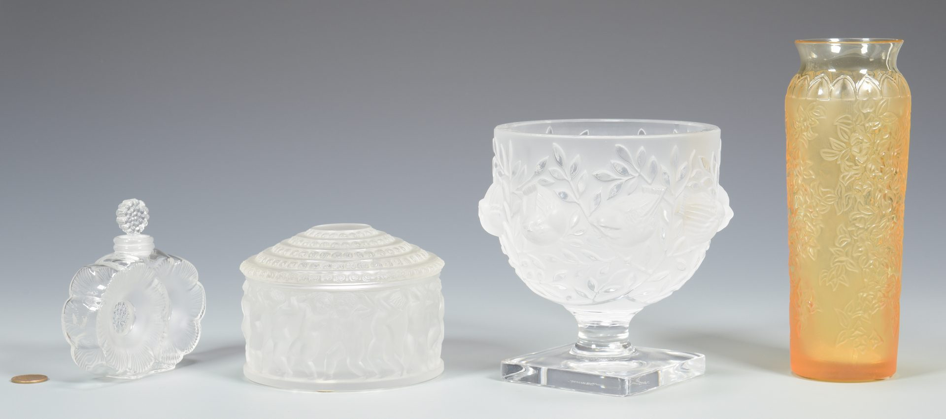 Lot 507: 4 Lalique Glass Table  Items