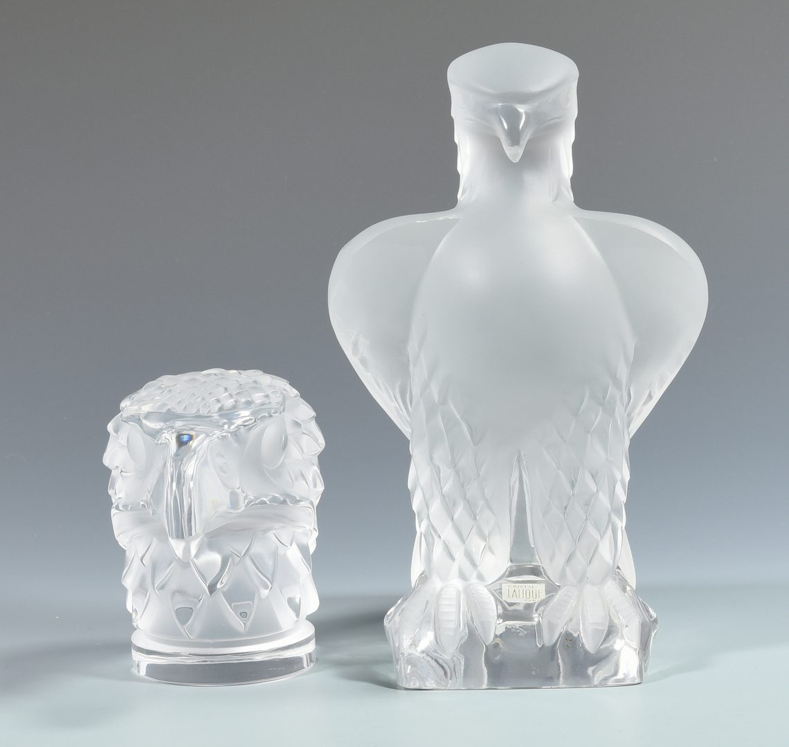 Lot 508: Lalique Glass Eagle Sculpture, Paperweight