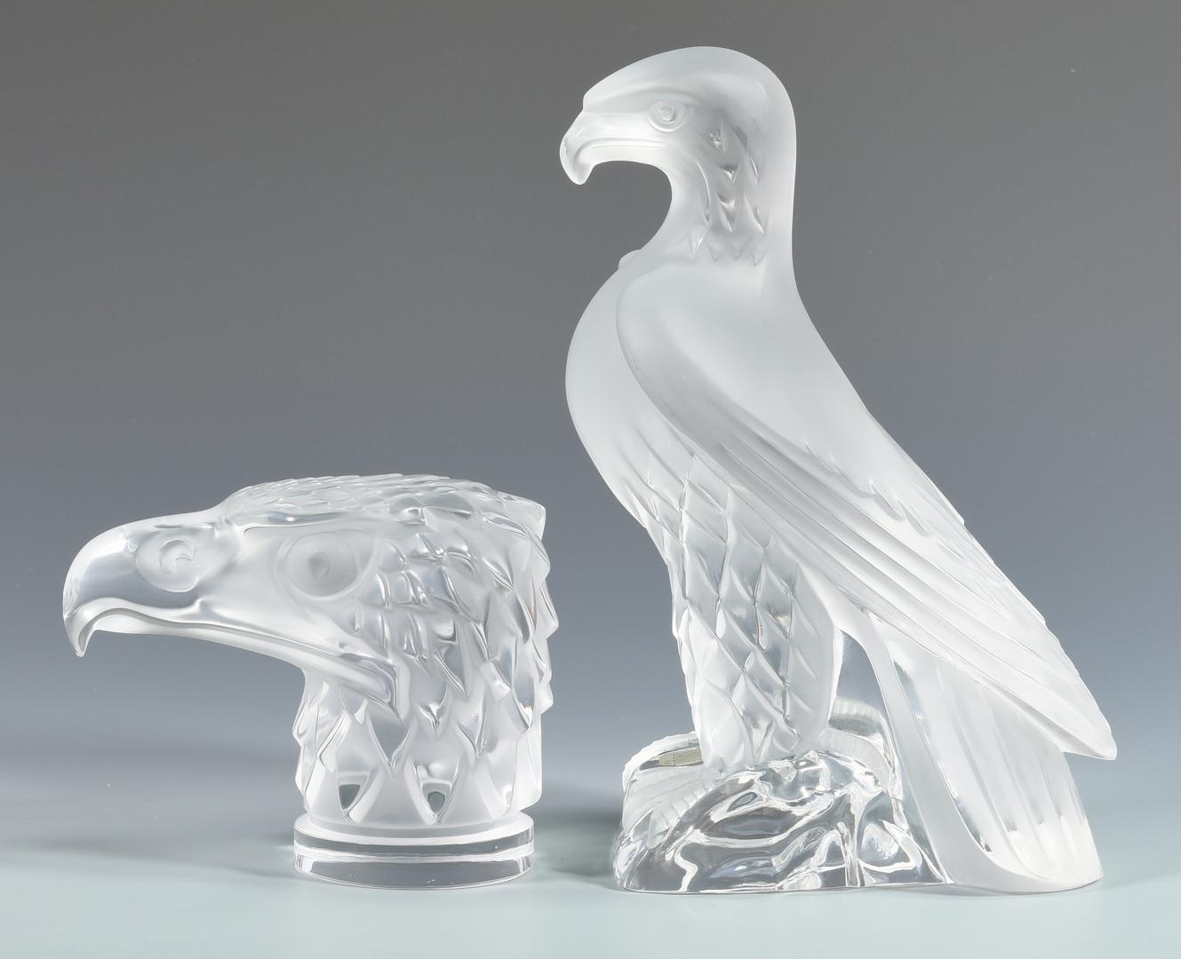 Lot 508 Lalique Glass Eagle Sculpture Paperweight