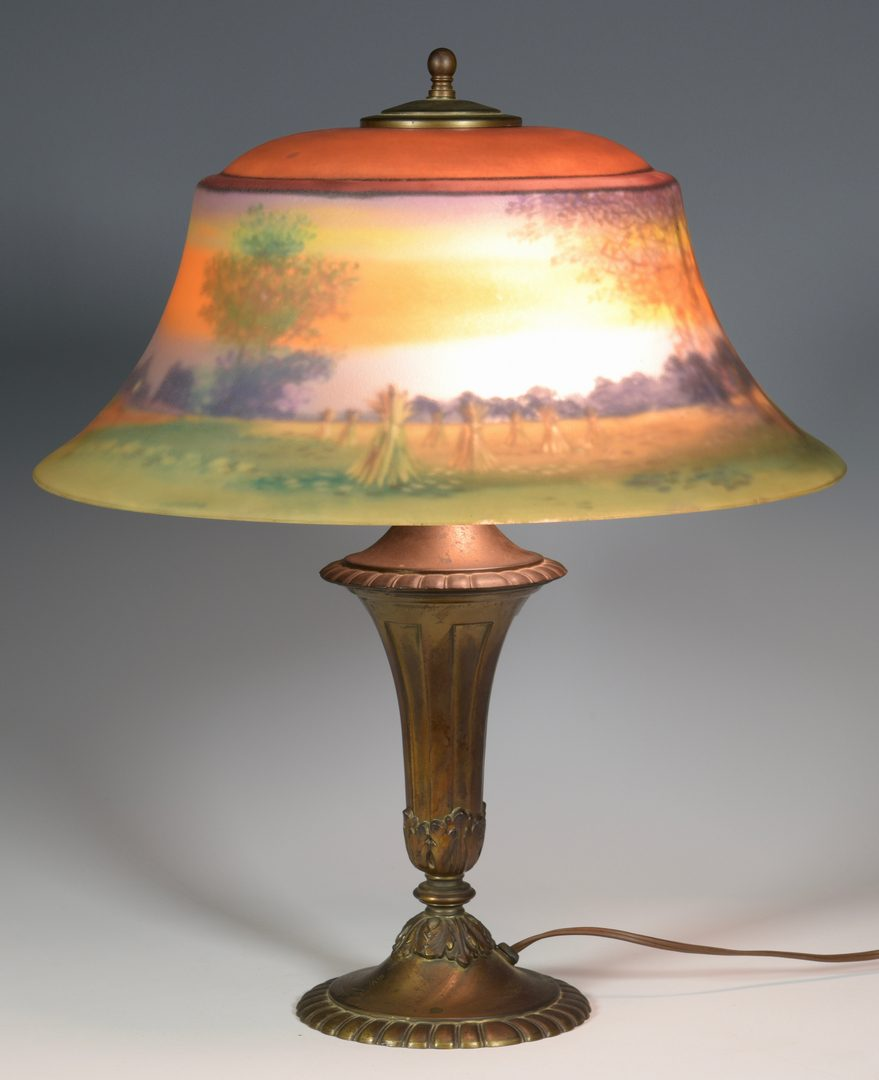 Lot 509: Pairpoint Reverse Painted Scenic Lamp