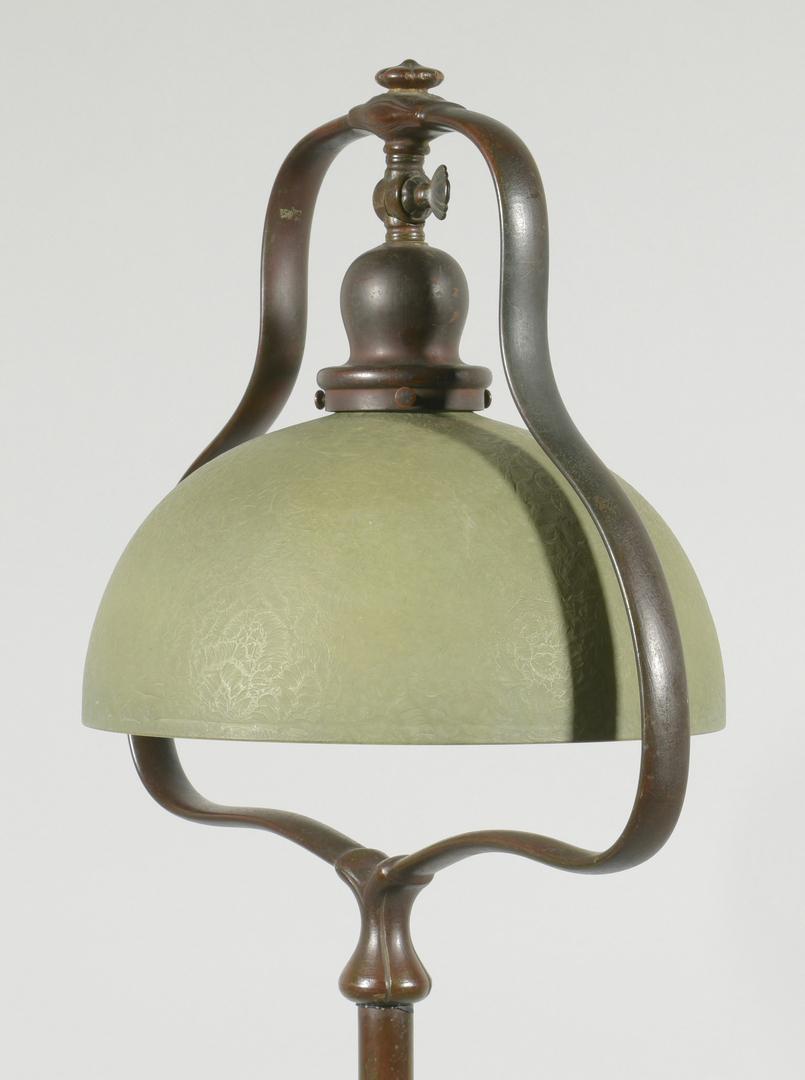 Lot 510 Handel Bronze Floor Lamp Amp Mosserine Shade