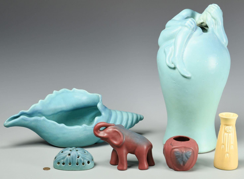 Lot 511: 6 pcs Art Pottery, Van Briggle & Rookwood