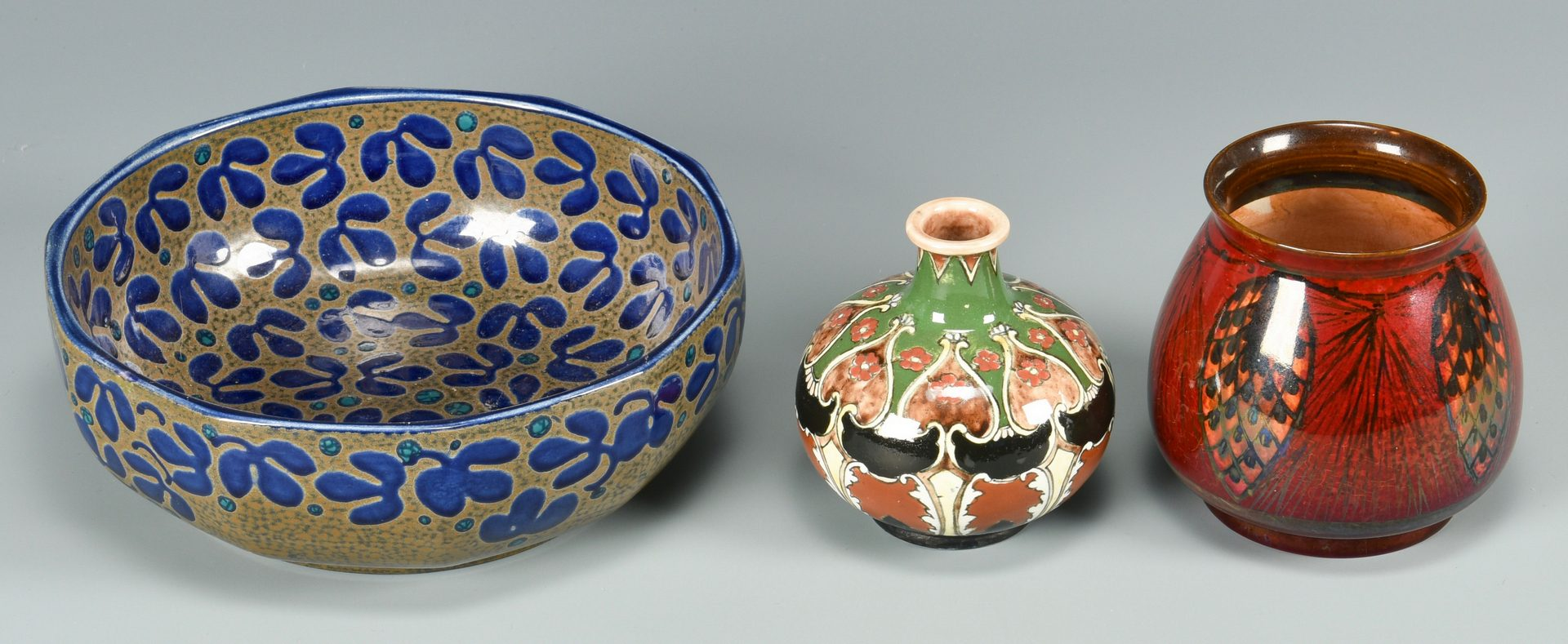 Lot 513: Group of 7 European Art Pottery Items