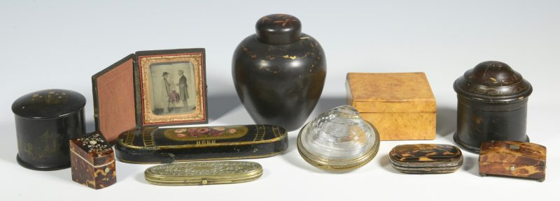 Lot 514: 9 Assorted Boxes plus Daguerreotype