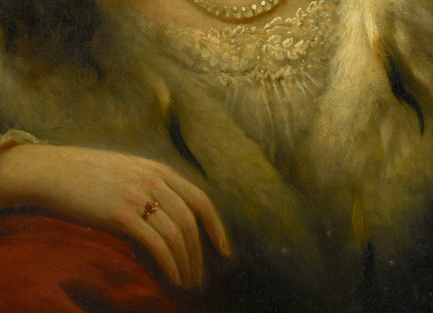 Lot 519: Anton Ebert, Portrait of Lady in Ermine Fur