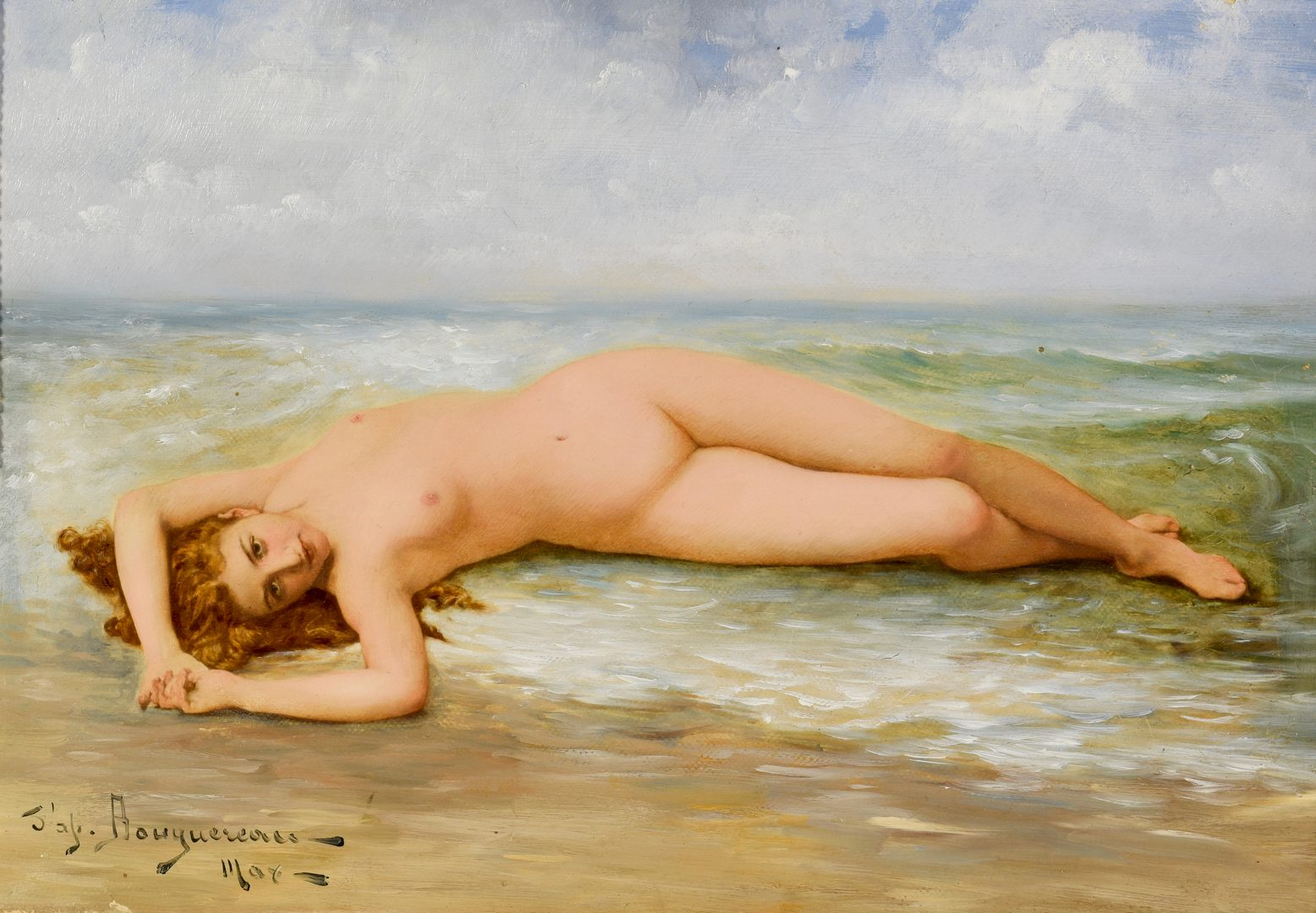Lot 520: O/C Nude, Manner of Bouguereau