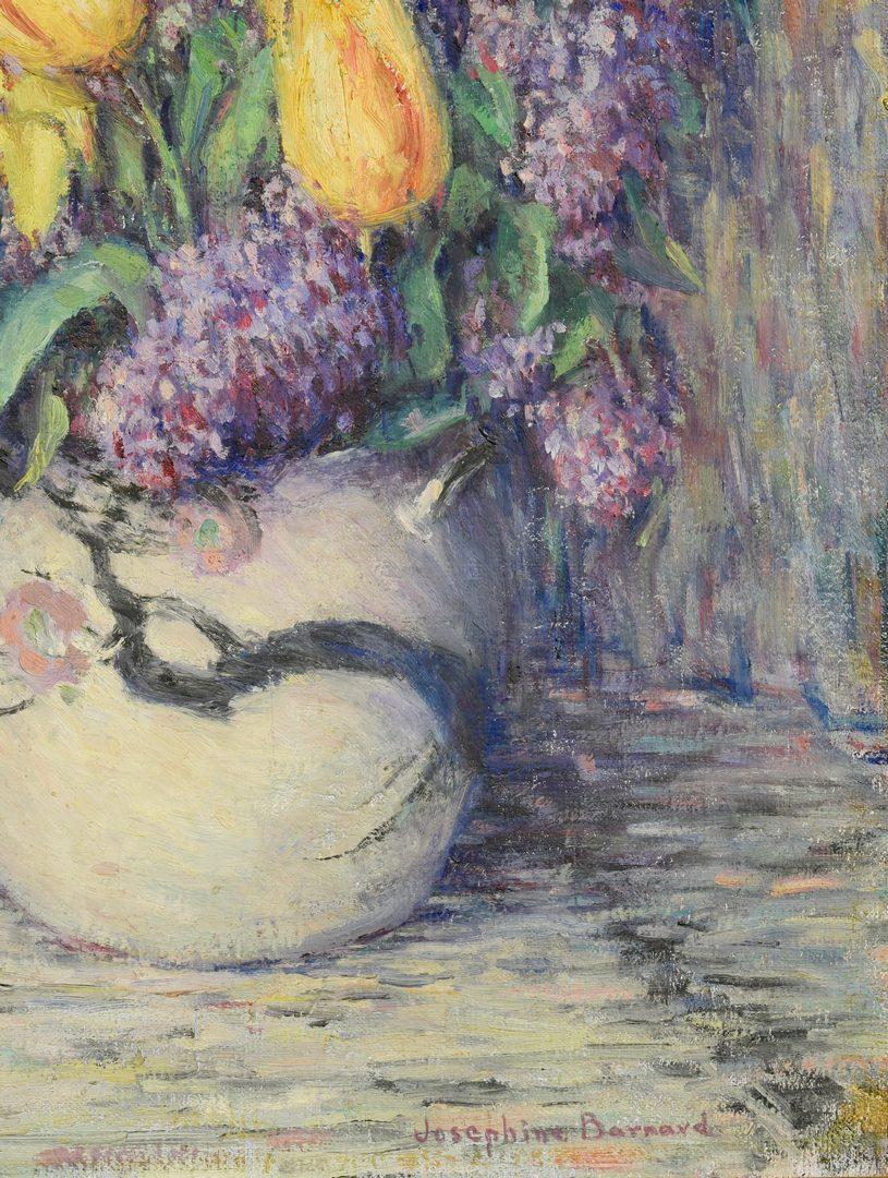 Lot 522: American Oil on Canvas Still Life, J. Barnard