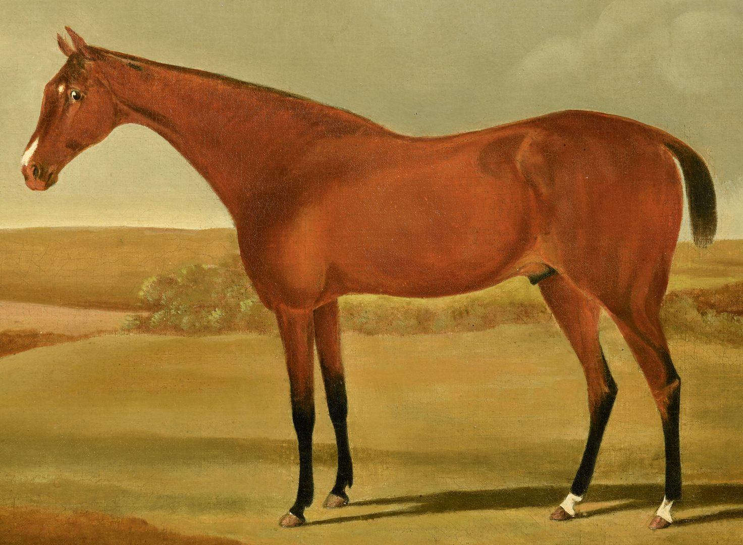 Lot 525: Attr. Harry Hall, large portrait of horse