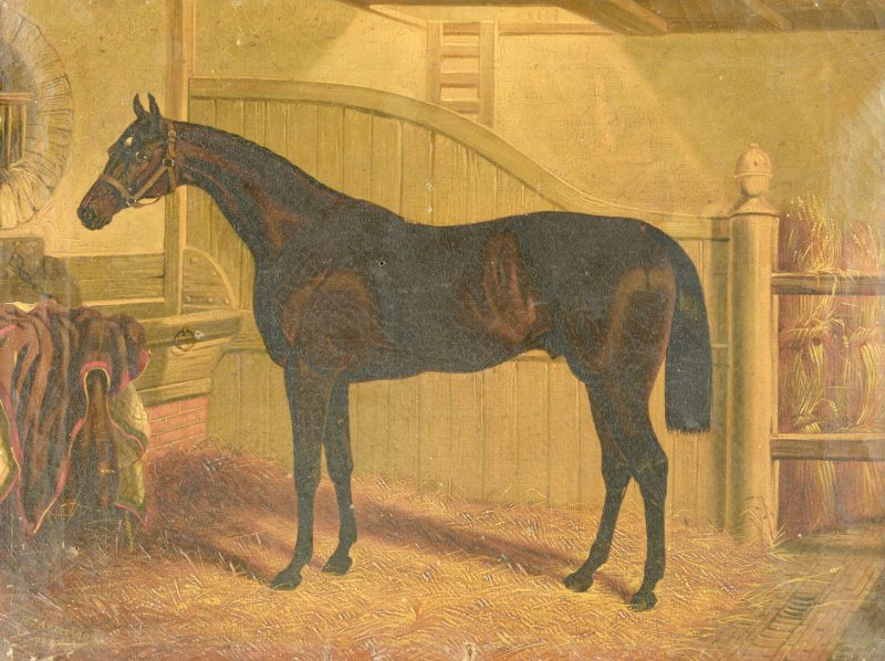 Lot 526: H.H. Armstead, Portrait of a Horse