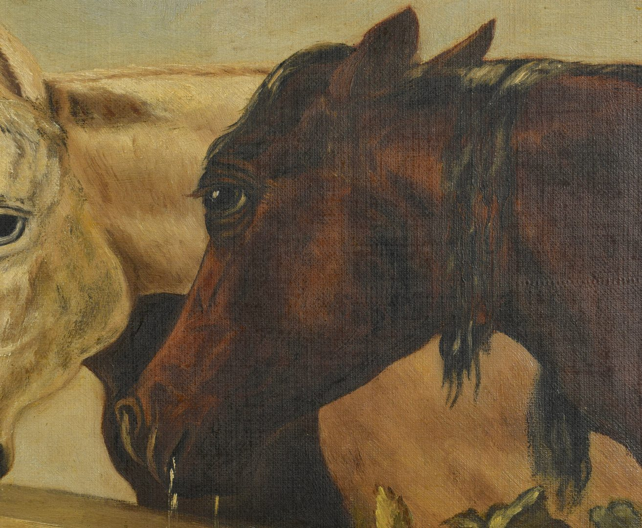 Lot 527: 2 Oil on Canvas Horse Paintings, incl. Gean Smith