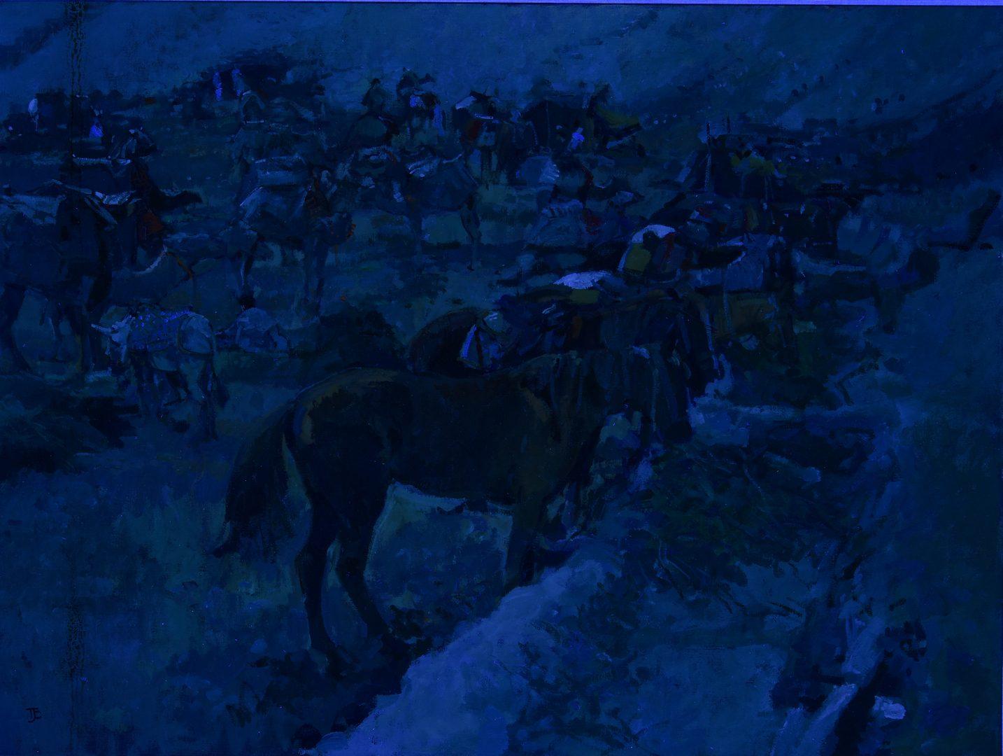 Lot 530: Thomas Coates Oil on Canvas Desert Scene