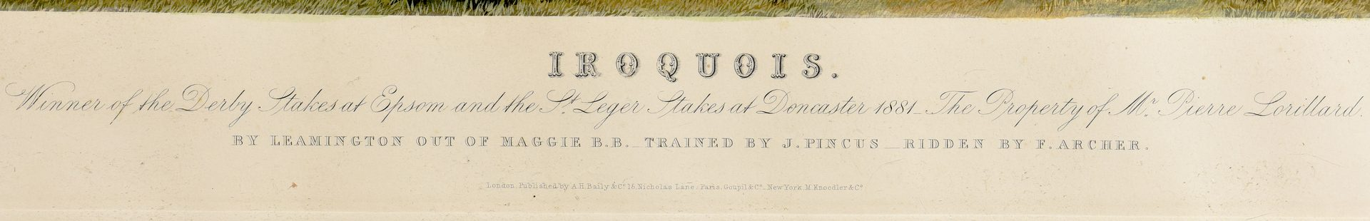 Lot 531: 19th C. Framed aquatint of Iroquois
