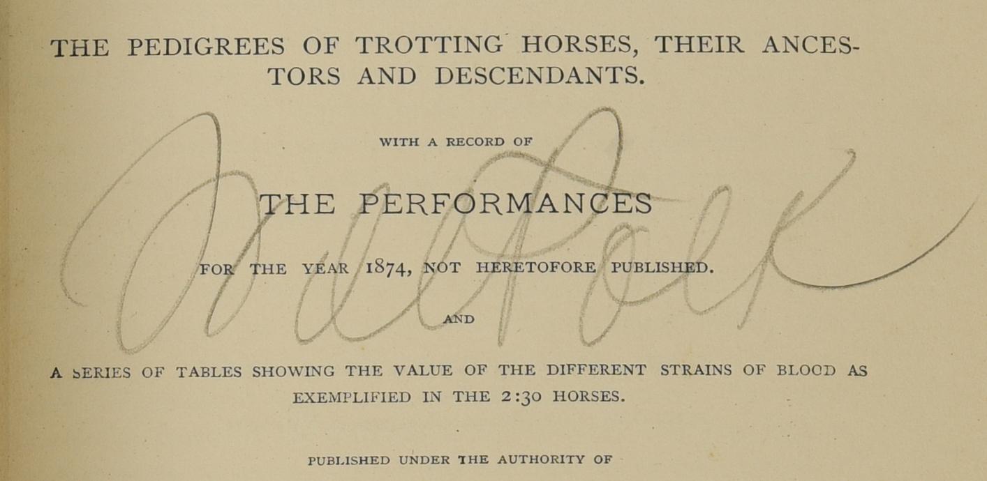 Lot 532: Sam Spode O/C, Polk-Yeatman Horse Archive
