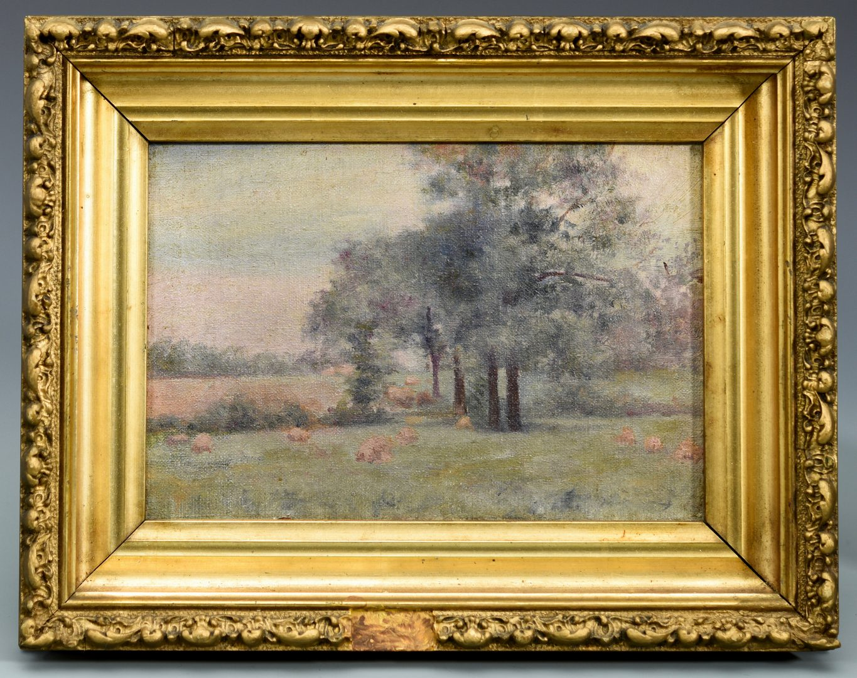 Lot 534: Pr. Oil Landscapes, poss. Devon Farm