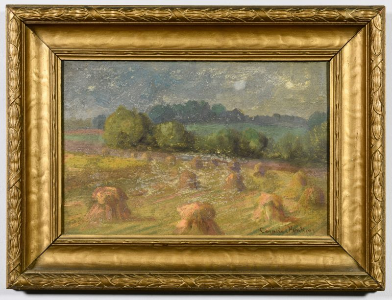 Lot 535: Cornelius Hankins Oil on Board Landscape