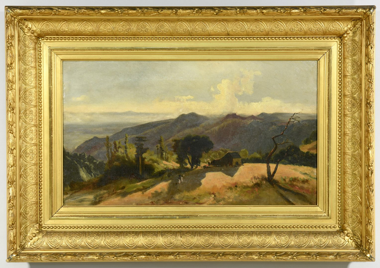 Lot 536: Southern Impressionist Landscape with figures