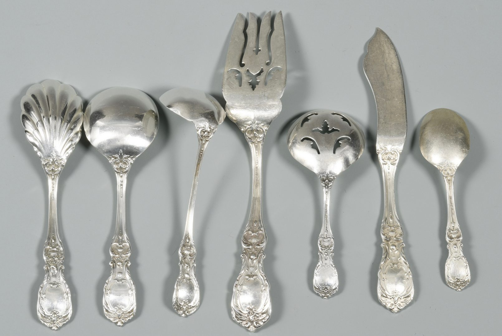 Lot 53: Reed and Barton Francis I Sterling, 106 pcs