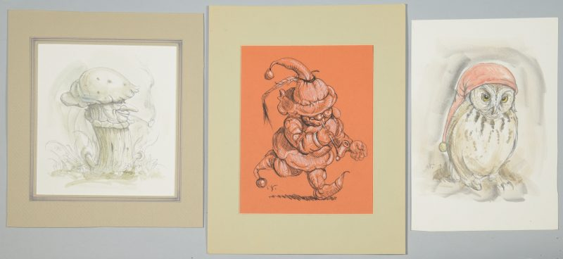 Lot 544: 3 Werner Wildner Surrealist Works