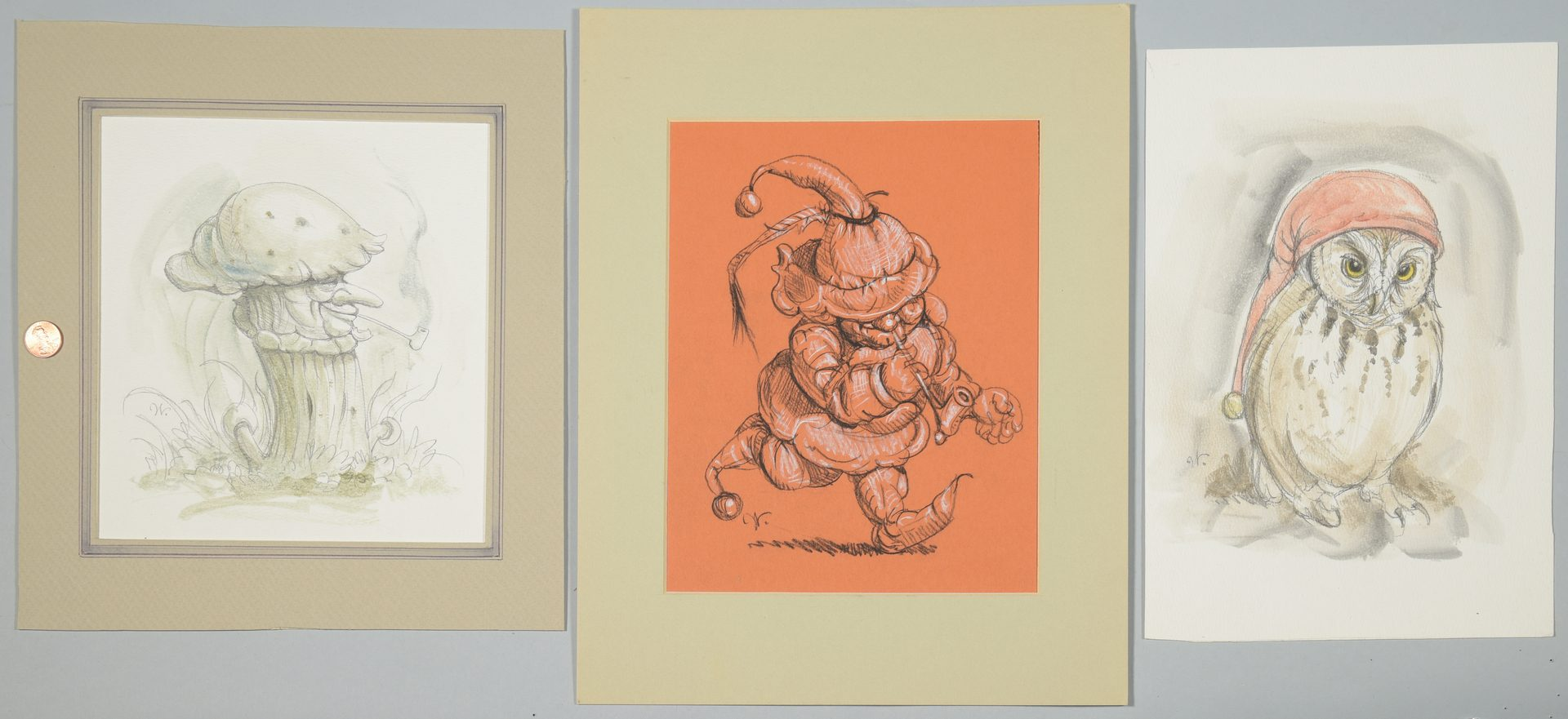 Lot 544: 3 Werner Wildner Surrealist Works