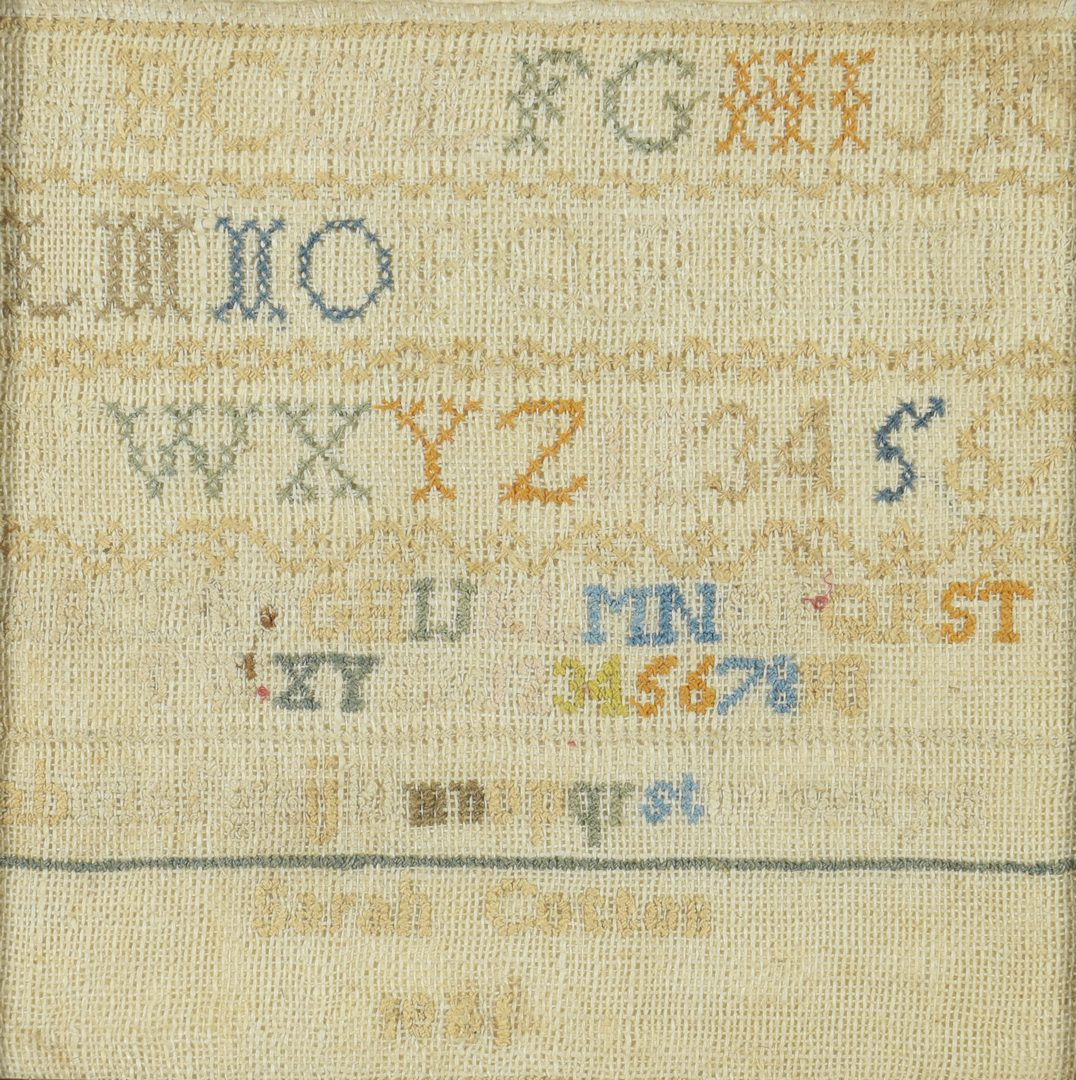 Lot 556: Williamson TN Sampler, Civil War era