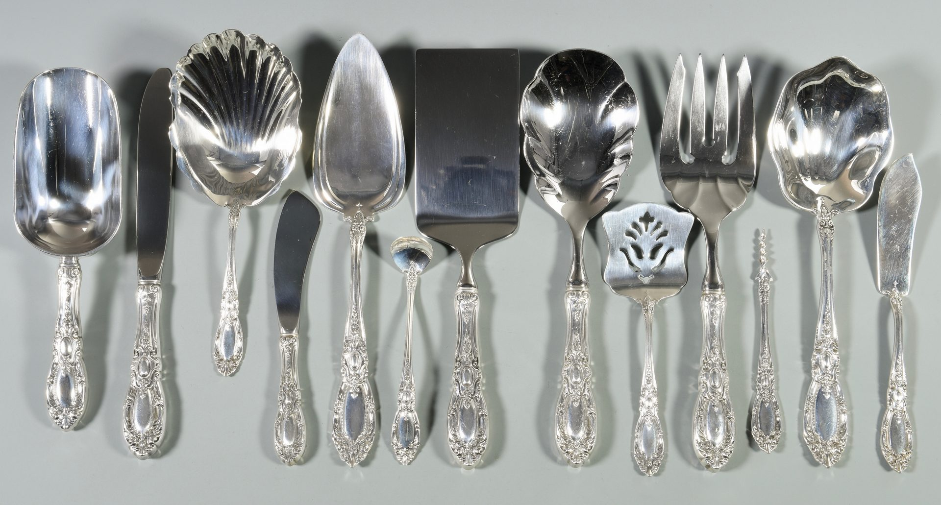 Lot 55: Towle King Richard Sterling Flatware, 95 pcs.