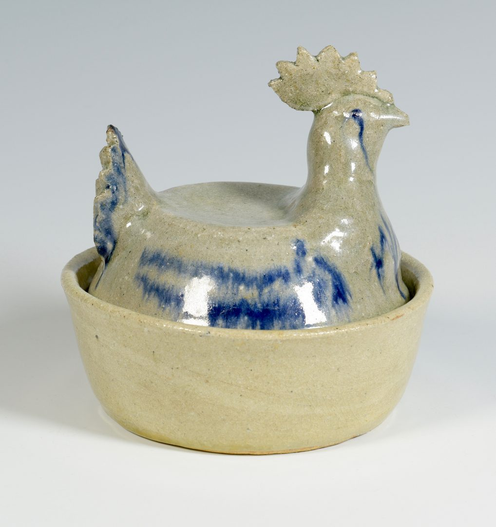 Lot 561: Rare Arie Meaders Rooster Dish