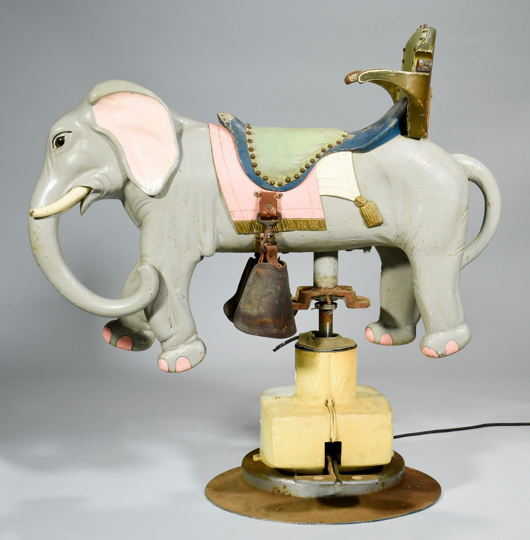Lot 565: Child's Elephant Barber Chair